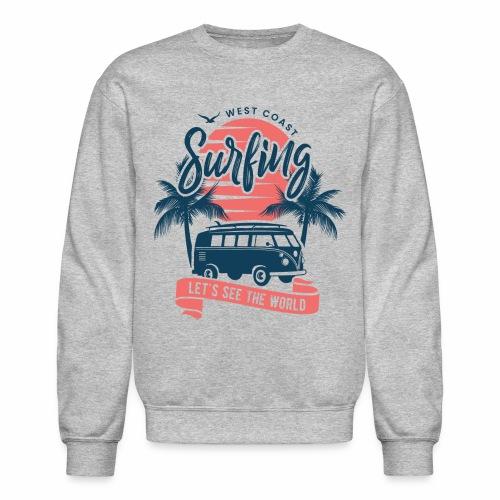 Wes coast surfing - Crewneck Sweatshirt