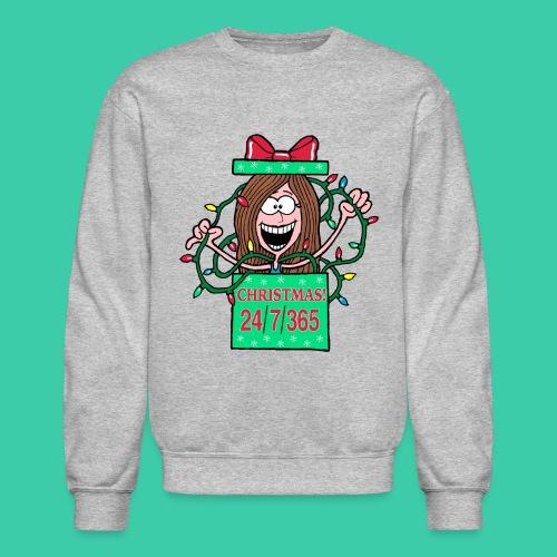 Rachel Christmas 365 gif - Crewneck Sweatshirt