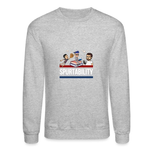 Spurtability White Text - Unisex Crewneck Sweatshirt