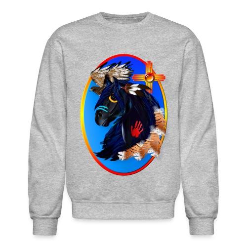 Black Stallion of Morning - Unisex Crewneck Sweatshirt