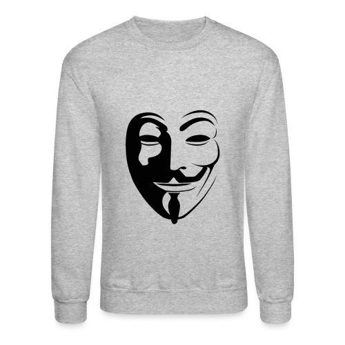 Anonymous Round Face gif - Unisex Crewneck Sweatshirt