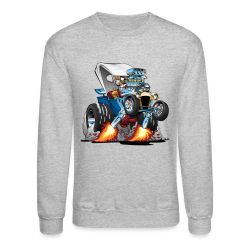 Custom T-bucket Roadster Hotrod Cartoon - Crewneck Sweatshirt