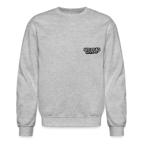 Blue Quad Racer Grunge Long Sleeve Shirts - Crewneck Sweatshirt