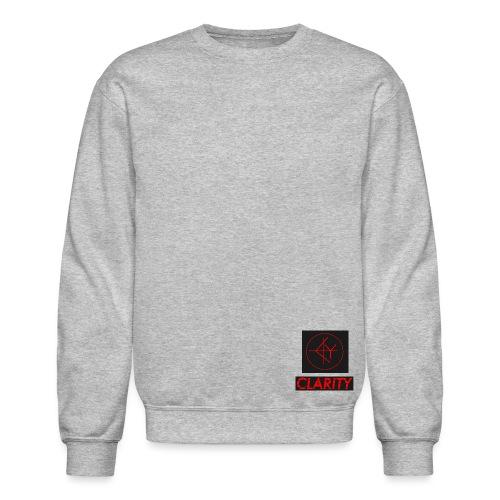 CLARITY writing BLACK RED - Crewneck Sweatshirt