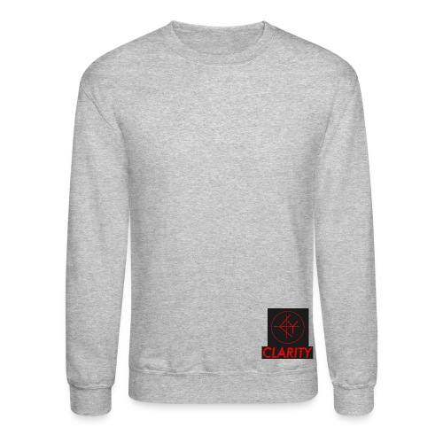 CLARITY writing BLACK RED - Unisex Crewneck Sweatshirt