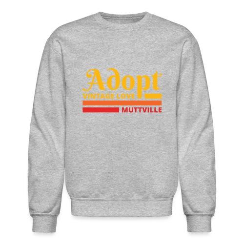 Adopt Vintage Love retro colors front - Unisex Crewneck Sweatshirt