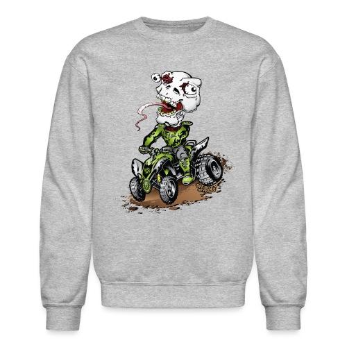 ATV Quad Crazy Skully - Crewneck Sweatshirt