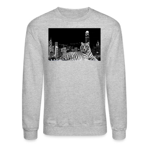 black and white tiger in town 1680x1050 1 jpg - Crewneck Sweatshirt