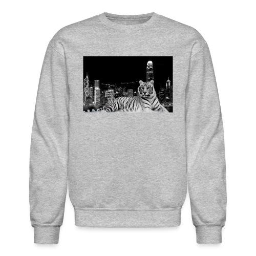 black and white tiger in town 1680x1050 1 jpg - Unisex Crewneck Sweatshirt