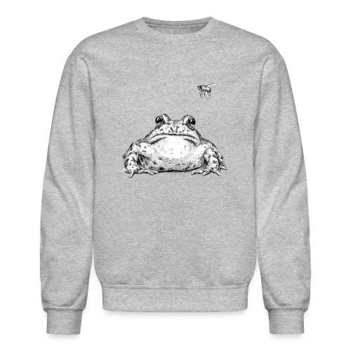 Frog with Fly by Imoya Design - Crewneck Sweatshirt