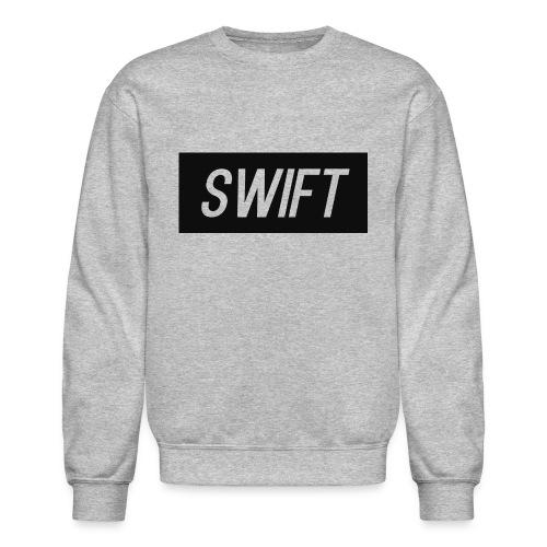 Mens Black & Grey - Hoodie : Swift Logo - Crewneck Sweatshirt