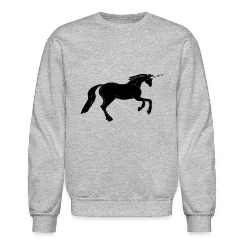 unicorn black - Crewneck Sweatshirt