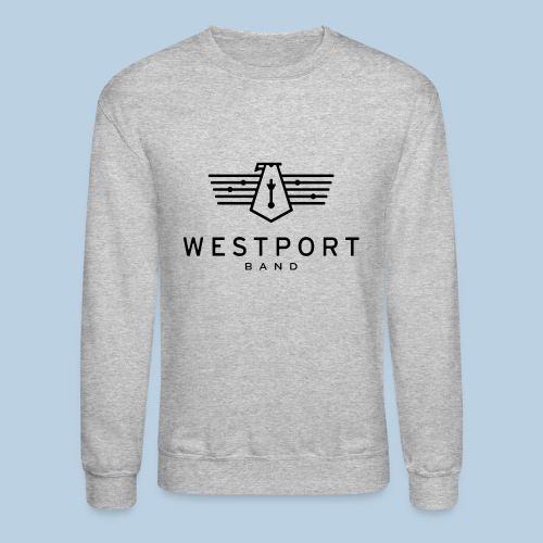 Westport Band Back on transparent - Unisex Crewneck Sweatshirt