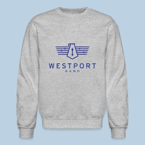 Westport Band Blue on transparent - Unisex Crewneck Sweatshirt