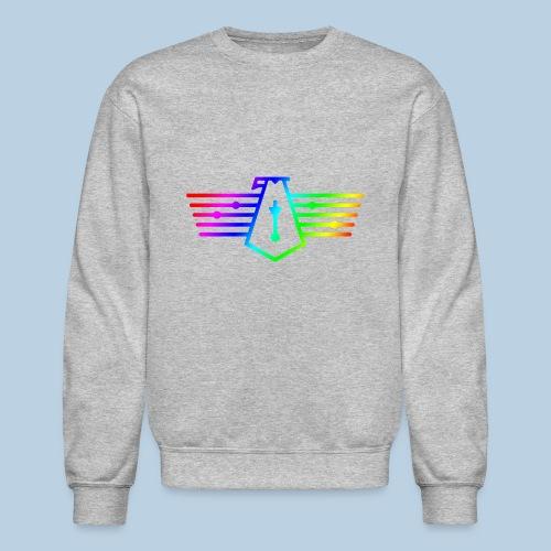 Westport Bird Rainbow on transparent - Unisex Crewneck Sweatshirt