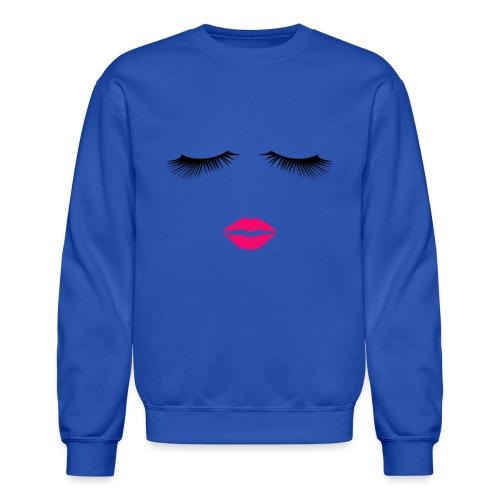 Lipstick and Eyelashes - Crewneck Sweatshirt