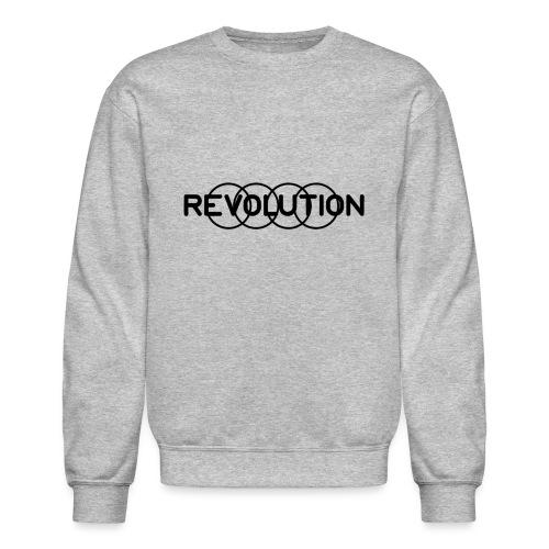 Revolution Black Logo - Unisex Crewneck Sweatshirt