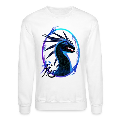 Horned Black Dragon and Symbol - Crewneck Sweatshirt