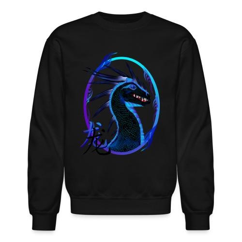 Horned Black Dragon and Symbol - Crewneck Sweatshirt