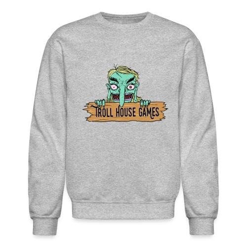 Troll House Games Cartoon Logo - Unisex Crewneck Sweatshirt