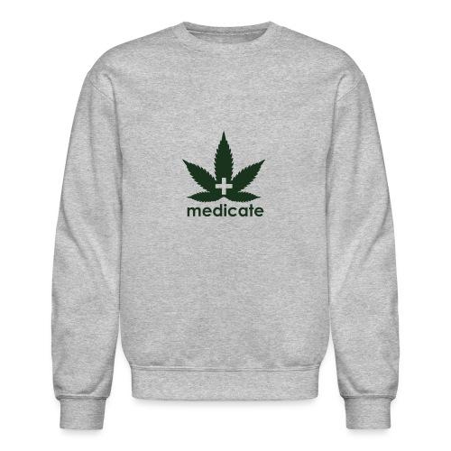 Medicate Supporter - Unisex Crewneck Sweatshirt