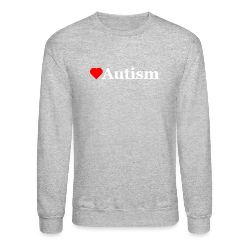 Heart Autism w - Unisex Crewneck Sweatshirt