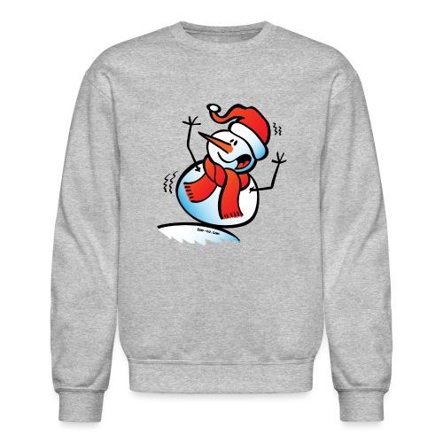 Snowman Toppling Over - Crewneck Sweatshirt