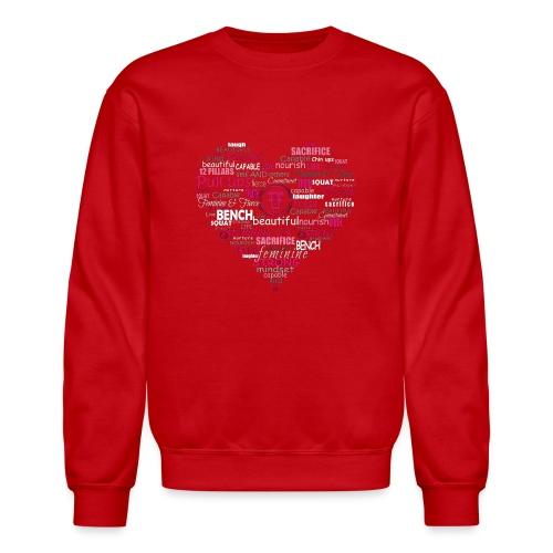 Feminine and Fierce Heart - Crewneck Sweatshirt