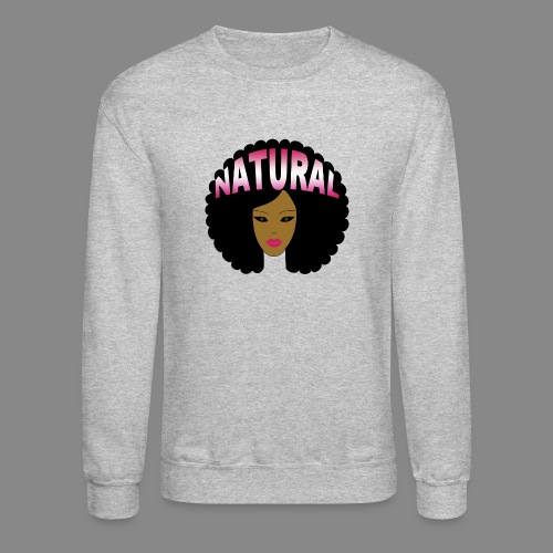 Natural Afro (Pink) - Crewneck Sweatshirt