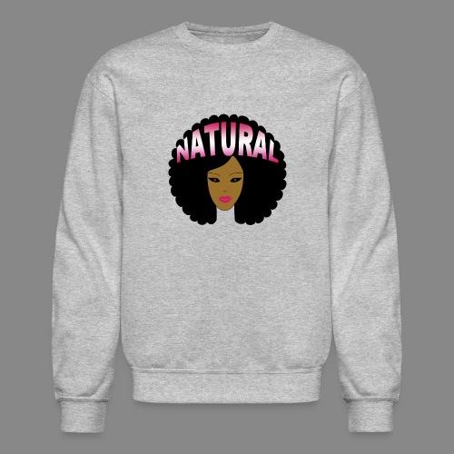 Natural Afro (Pink) - Unisex Crewneck Sweatshirt