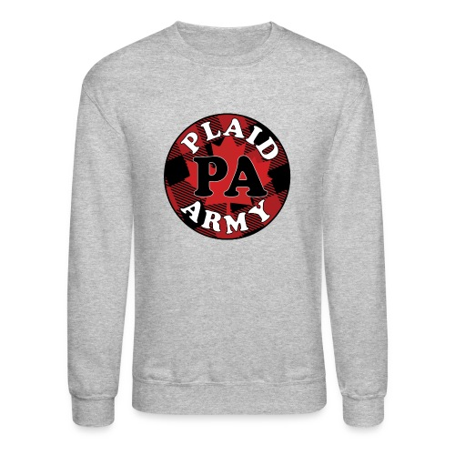 plaid army round - Crewneck Sweatshirt