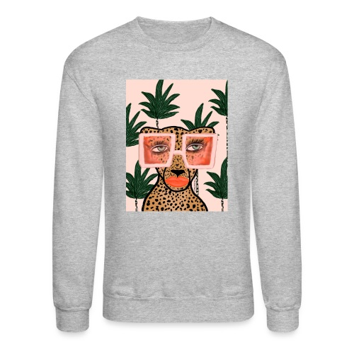 Tropical Glam Cat - Unisex Crewneck Sweatshirt