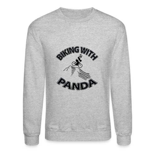 Biking with Panda - Crewneck Sweatshirt