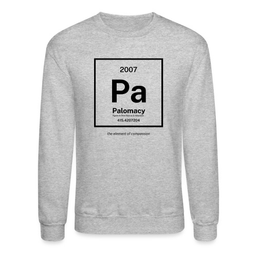 Palomacy: Element of Compassion (Black) - Unisex Crewneck Sweatshirt