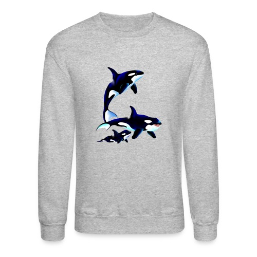 Killer Whale Family - Crewneck Sweatshirt