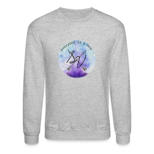 everyday is a new adventure logo - Crewneck Sweatshirt