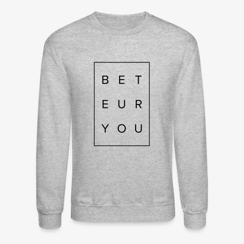 Black Puzzle Design - Be You, Be True - Crewneck Sweatshirt