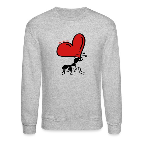 Ant Carrying the Love's Heart - Unisex Crewneck Sweatshirt