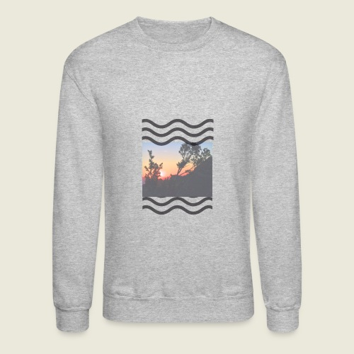 waves low opacity - Crewneck Sweatshirt