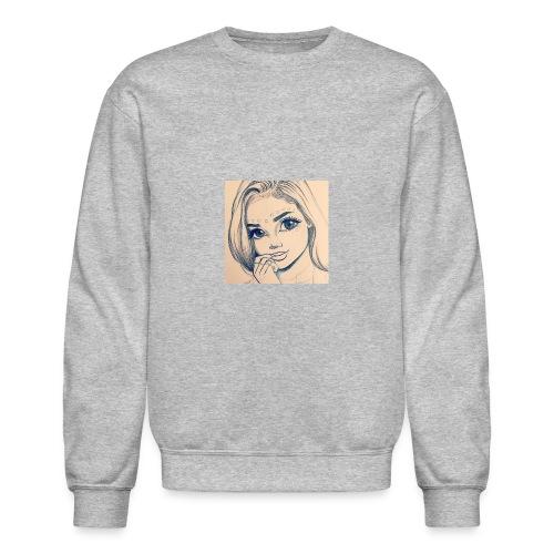 c7cae63168a24ef3c45fb8482aa467a3 drawing girls - Unisex Crewneck Sweatshirt