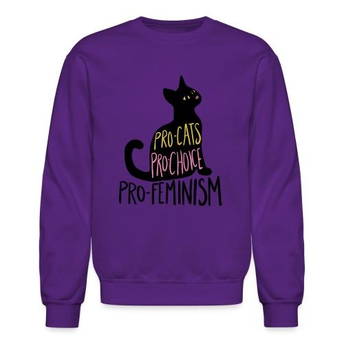 Pro-cats pro-choice pro-feminism - Crewneck Sweatshirt