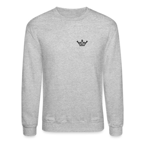 Crown (Black) - Unisex Crewneck Sweatshirt