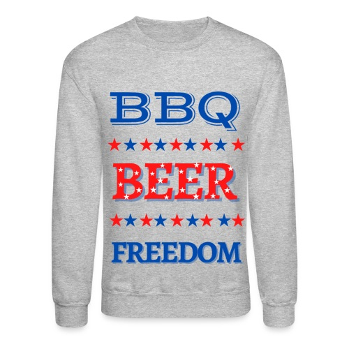 BBQ BEER FREEDOM - Unisex Crewneck Sweatshirt