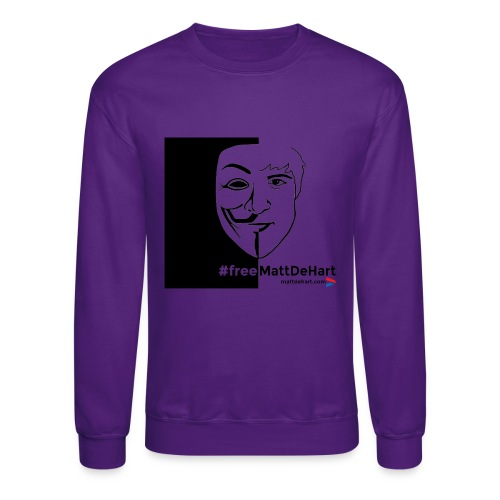freemattdehart gif - Unisex Crewneck Sweatshirt