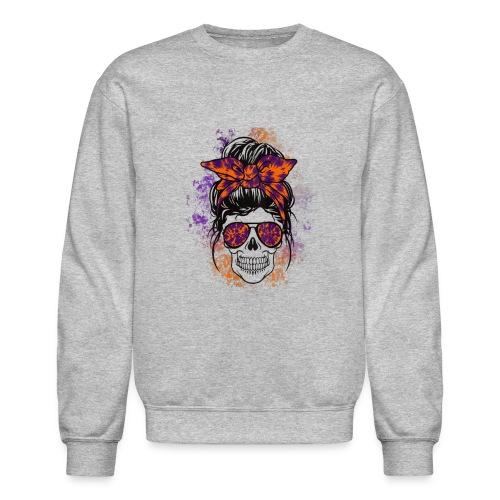 Hippie Skull - Unisex Crewneck Sweatshirt