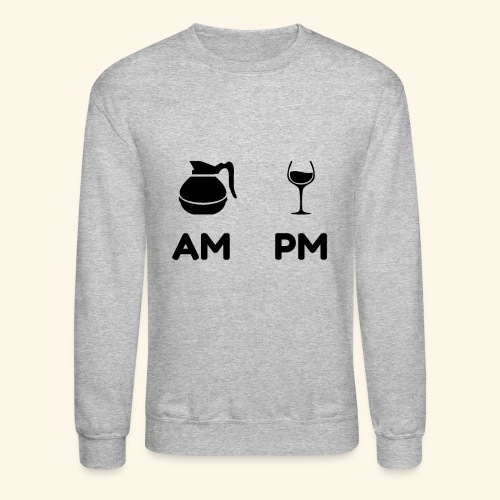 am pm Black - Crewneck Sweatshirt