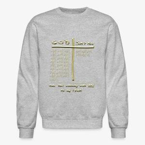 GOD vs Devil score - Crewneck Sweatshirt