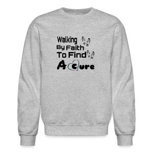 Walking By Faith Lupus Awareness Graphic Tee - Crewneck Sweatshirt