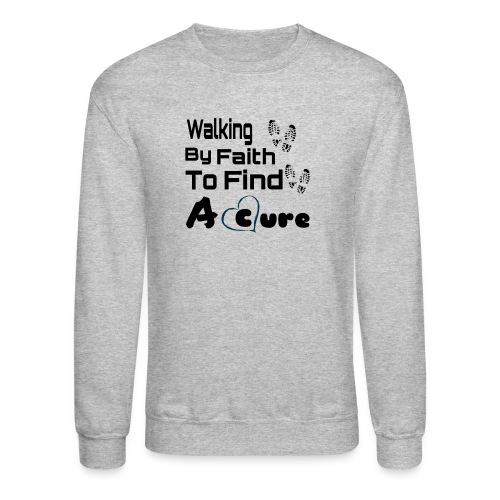 Walking By Faith Lupus Awareness Graphic Tee - Crewneck Sweatshirt