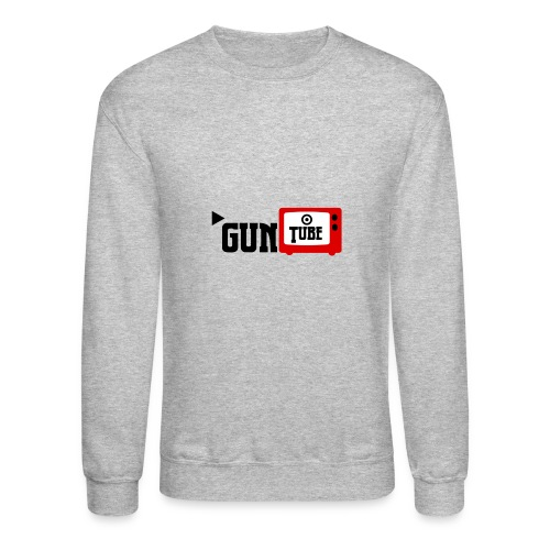 guntube larger logo - Crewneck Sweatshirt